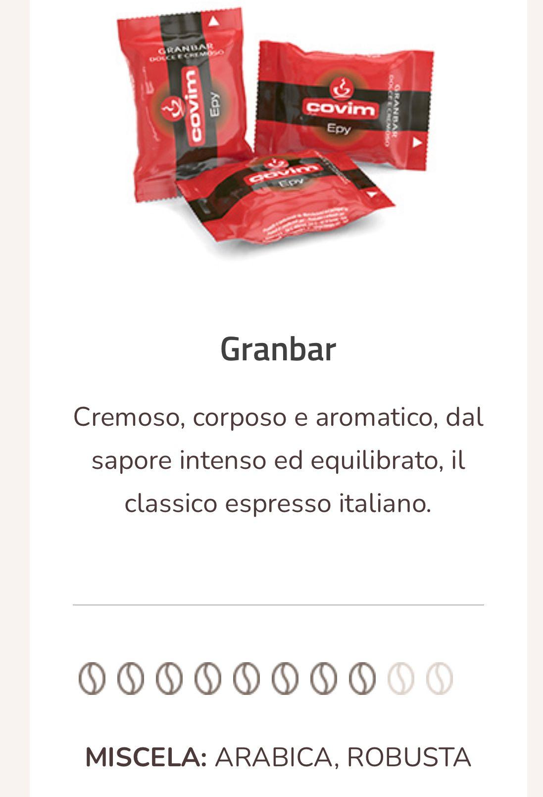 Caffè Granbar espresso point compatibili 100 capsule