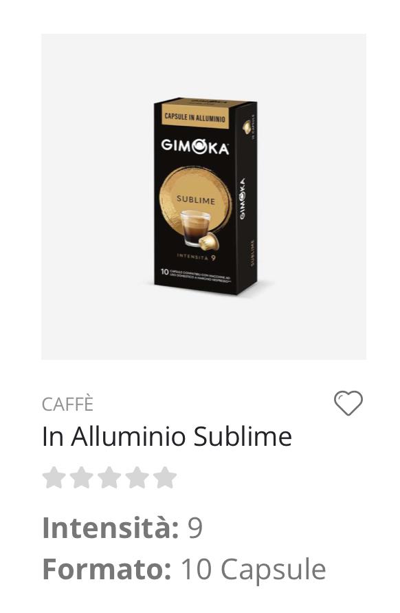 Capsule caffè Sublime Nespresso compatibili