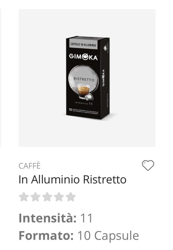 Capsule caffè Ristretto Nespresso compatibili