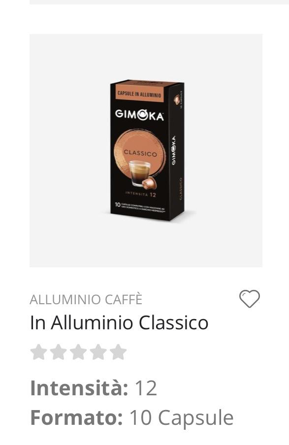 Capsule caffè Classico Nespresso compatibili