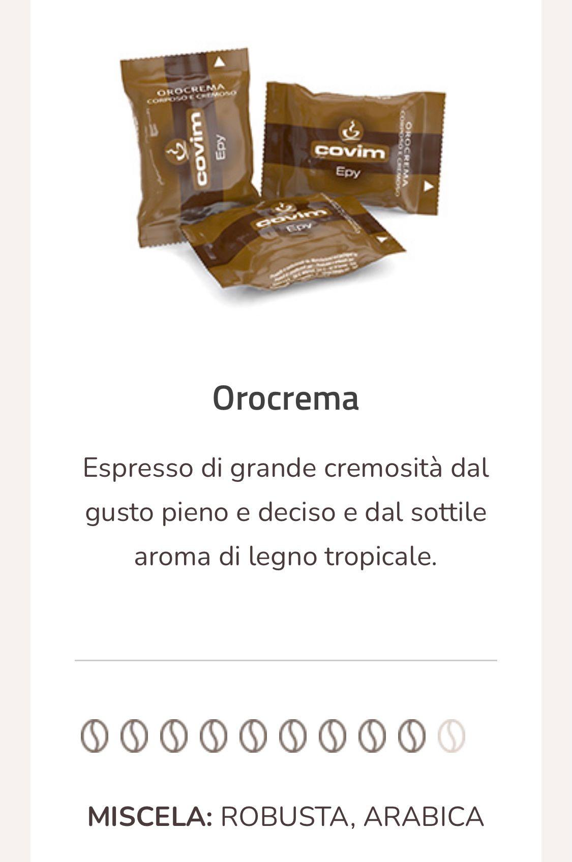 Caffè Orocrema espresso point compatibili 100 capsule