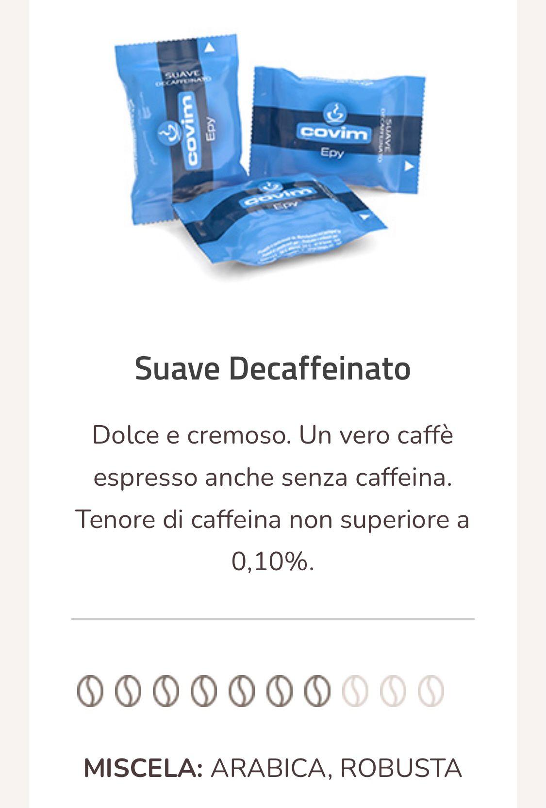 Caffè Suave point compatibili 50 capsule